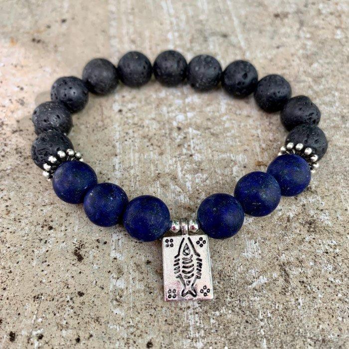 lapis lazuli-lava stone