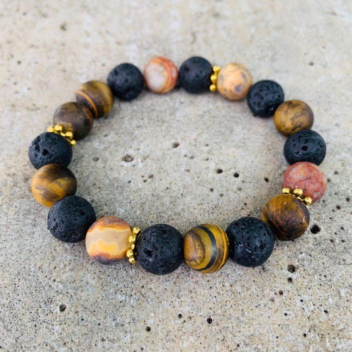 lava-stone-tigereye-stone-crazy-lace-agate
